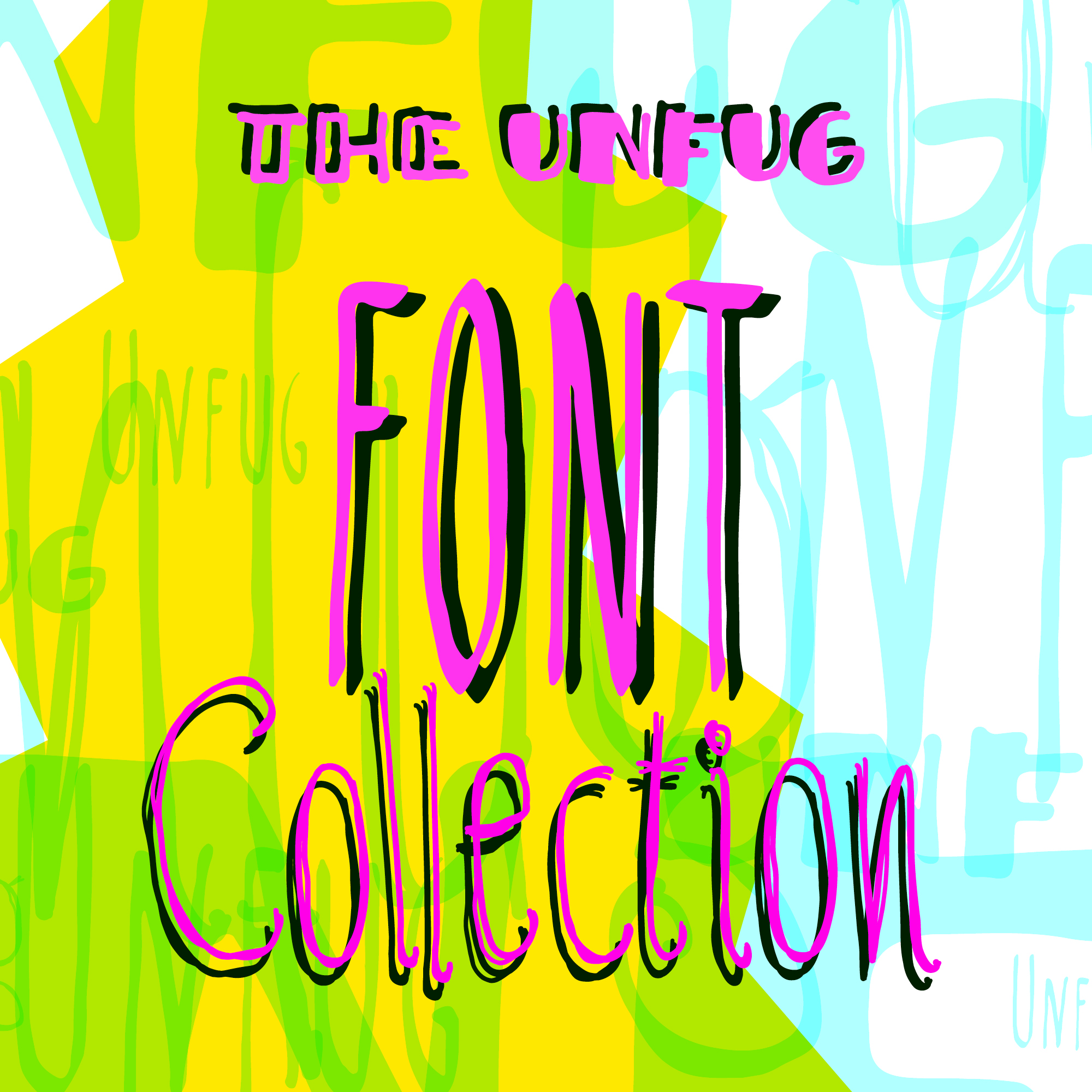 Präsentation der Schrift Unfug - Collection: Thumbnail