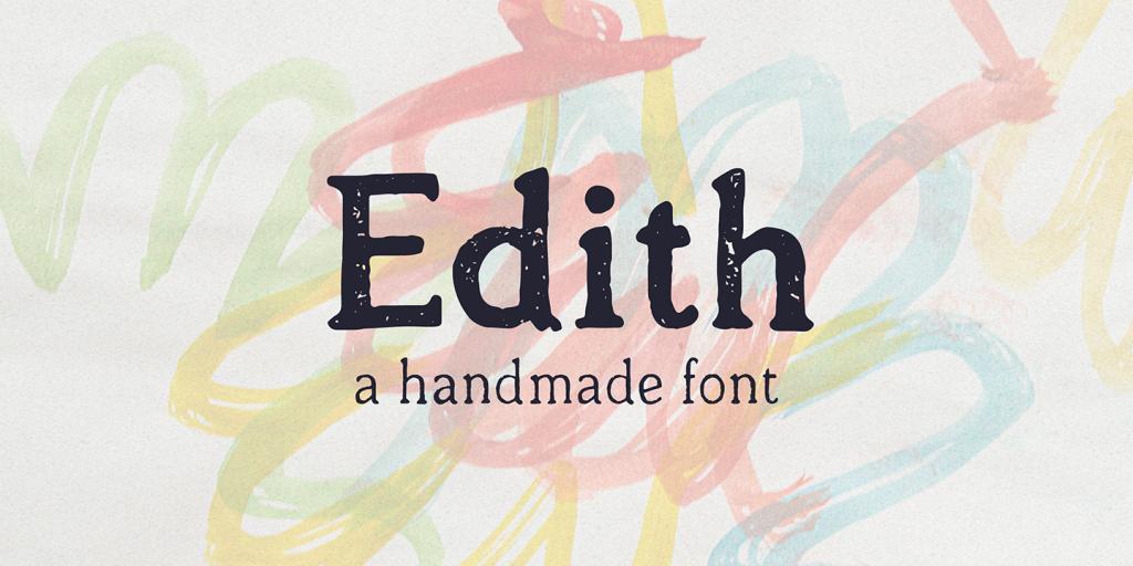 Edith - eine handgemachte Schrift